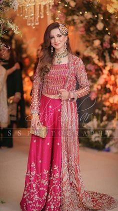 Embellished Jumpsuit for a Wedding Asian Bridal Dresses, Pakistani Dresses Casual, Pakistani Wedding Dresses, Formal Dresses For Weddings, Pakistani Dress Design, Stylish Dress Designs, Stylish Dresses, Pakistani Bridal Lehenga, Embellished Jumpsuit