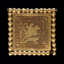 Gold 'lion-hunt' plaque, Asia minor, ca. 4th century A.D.