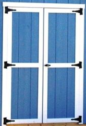 Shed Doors -N- More is your one stop shop for all your storage shed needs.We carry Fiberglass shed doors, wood shed doors, shed windows, cupola's and more! Shed Windows, Shed Doors, Backyard Sheds, Outdoor Sheds, Shed Organization, Build A Playhouse, Shed Kits, Bike Shed, Wood Shed