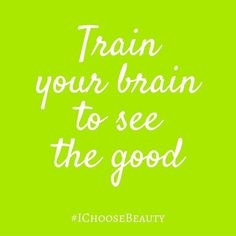 When you have clinical depression, seeing the good doesn't come naturally. It's not like you're trying to see the bad things, but your brain is just prone to go there. That's why #IChoosBeauty has worked so well for me: it's brain training to see the good even when there is bad. If you want to try it yourself with a little guidance, sign up for my challenge that starts on Monday. I'll support you every step of the way. #quotes #inspiration
