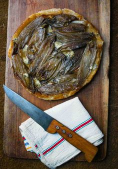 Caramelized Endive and Blue Cheese Tart: A great French recipe for lunch or dinner via @davidlebovitz