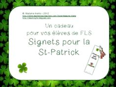 Celebrate all cultures in the language classroom!  Give your students a St. Patrick's Day gift of a holiday-themed bookmark.  Just print on white c...