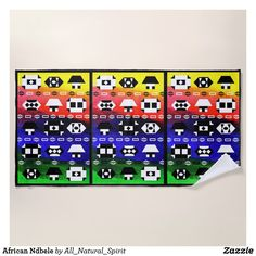 Make a Statement with this African Ndbele Beach Towel this summer! Make It Yours @ https://www.zazzle.com/z/ynhis?rf=238562247198752459 #Zazzle #SouthAfrica #Rainbow #Nation #Style #Fashion #Beach #Towel #Summer #Zazzle #AllNaturalSpirit Visit our blog @ allnaturalspirit.wordpress.com