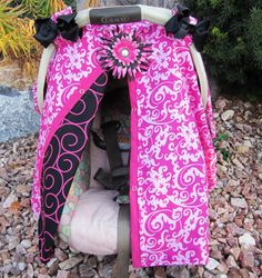 Car seat canopy. $35.99, via Etsy.