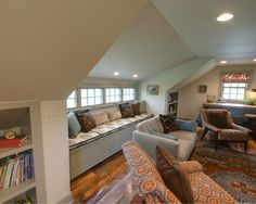Attic Remodel- Love everything about this! even the stairs with added storage!