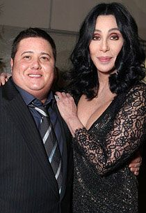 Chaz Bono attends mom Cher's 'Burlesque' premiere with longtime girlfriend, Jennifer Elia Chaz Bono, Film Burlesque, Divas, Transgender Man, Shape Magazine, People Of Interest, Family Affair, Dancing With The Stars, Famous Faces