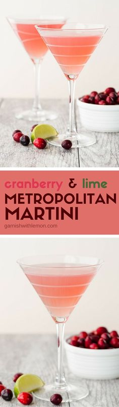 Perfectly balanced between sweet and tart, this Metropolitan Martini recipe is a tasty twist on your traditional Cosmo. And it's easy to shake for one or make a batch for a crowd!