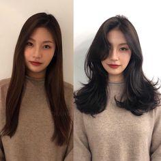 Pin on Face Paint Pin on Face Paint Medium Hair Cuts, Medium Hair Styles, Natural Hair Styles, Short Hair Styles, Korean Hair Medium, Korean Hair Color, Korean Short Hair, Haircuts Straight Hair, Different Hair Types