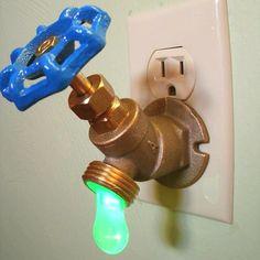 Faucet night light.