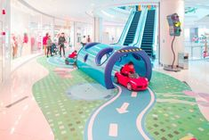 View the full picture gallery of Jungle Race Playground Design, Indoor Playground, Children Playground, Jungle Race, Kids Cafe, Time Kids, Booth Design, Kid Spaces, Retail Design