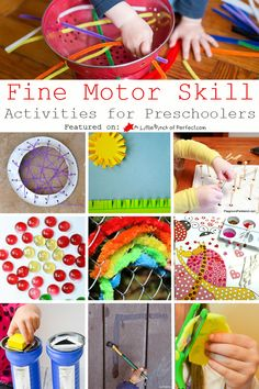 Today I am sharing fine motor skill activities that will be sure to entertain your child while helping them improve hand control. Activities are geared towards preschool aged children who will also benefit from the additional areas of focus like numbers, shapes, and letters.  This list of ideas was inspired by last week's Love to …
