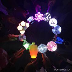 Kpop Lightstick AOA - Astro - BTS - EXO - Gfriend - Got7 - Mamamoo - Monsta X - Seventeen -Twice - VIXX - 2PM ©Choicemusicla (Instagram)