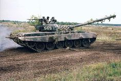 Polish T-72 on proving ground