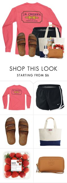 """""""My cousin proposed to his gf and she's not even out of highschool yet"""" by flroasburn ❤ liked on Polyvore featuring NIKE, Vineyard Vines, Tory Burch and Daniel Wellington"""
