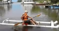 If you have fifty dollars burning a hole in your pocket and need a new boat, you could make this DIY kayak out of PVC plumbing material.