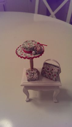 Handmade hat, bag & purse. Scale 1/12.