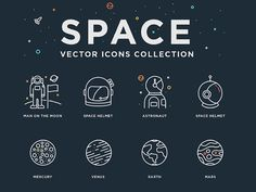 24 Space Vector Icons by Artem Kovyazin