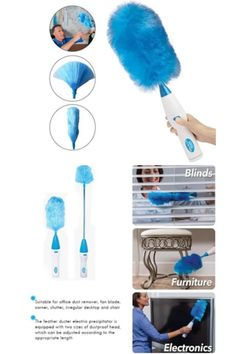 Hurricane Spin Duster Power clean your home quick and easy with Hurricane Spin Duster Motorized Dust Wand. The motorized dust wand does the hard work for you, eliminating dust in half the time. Just press the button and start dusting!