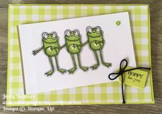 I have a fun card for you today for Wednesday's WOW! I want to show you how to make this cute card with the So Hoppy Together set using the masking technique. For the card I have used … Kids Cards, Baby Cards, Homemade Greeting Cards, Animal Cards, Stamping Up, Cool Cards, Stampin Up Cards, Birthday Cards, Happy Birthday