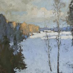Por amor al arte: Alexander Zavarin Winter Landscape, Landscape Art, Landscape Paintings, Painting Snow, Winter Painting, Russian Painting, Russian Art, Paintings I Love, Beautiful Paintings