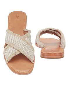 Frye Hayley Frayed Slide Sandals
