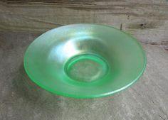 Fenton Florentine Green Stretch Glass Bowl by TheSnapDragonsLair #ButterflysPin