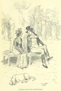 Jane Austen Mansfield Park - sitting under trees with Fanny Jane Austen Mansfield Park, Cents Of Style, Jane Austen Novels, Dark Jokes, Gothic, Classic Literature, Romance, British Library, Pride And Prejudice