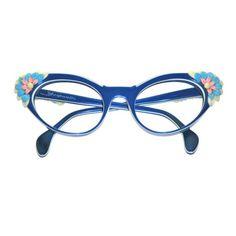 So darn cute! 1950s Schiaparelli sunglasses frames