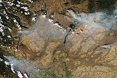 Wildfires in central Washington : Natural Hazards : NASA Earth Observatory