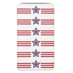 Patriotic Stars & Stripes Design Smartphone Pouch
