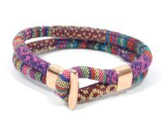 rose gold bracelet * bohemian jewelry * burgundy ethnic bracelet * women boho bracelet * gifts for women * gift for girlfriend