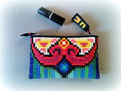 Colourful Mauritius Tiny Clutch embroidered by hand in by UEonEtsy