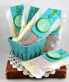 Glassine Bag Treat Packaging by Dawn McVey for Papertrey Ink (April 2012)