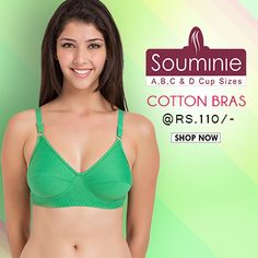 Buy #Souminie #cotton #bras in A.B.C.D cup sizes, starting Rs. 110 @ www.bellelingeries.com Affordable Lingerie, Belle Lingerie, Shop Now, Cotton, Shopping, Fashion, Arms, Moda, Fashion Styles
