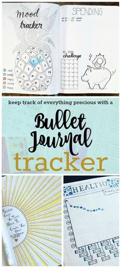 Adding a bullet journal tracker is a creative and efficient way to hold yourself accountable to eat healthier, get more sleep, and track your chores.