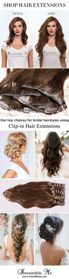 Make a dramatic hairstyle change with Irresistible Me 100% human Remy clip-in hair extensions. You can add length and volume in a matter of minutes and you get to choose the color, length and weight. Also try our wigs, ponytails, fantastic hair tools and hair care. Sign up and get 20% off your first order and other exclusive discounts!