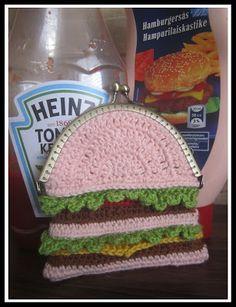 Hamburger coin purse. Too cute :)