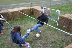 Human Foosball!  I need to build me one.....