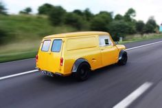 Lovely yellow canary mini with flared arches