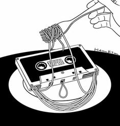 Henn Kim, Music Therapy, Photo And Video, Illustration, Drawings, Creative, Inspiration, White Pen, Black White