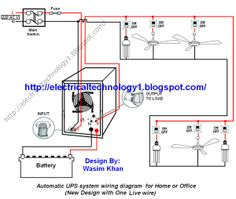 Starting stopping of 3 phase motor from more than one place power automatic ups system wiring circuit diagram for home or office new design with one live wire asfbconference2016 Images