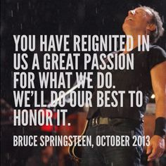 I hope this means Bruce is back touring in the US in 2014!