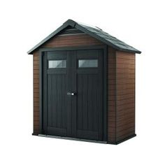 Home Depot Keter Fusion 7 5 Ft X 4 Wood And Plastic Composite Shed