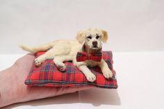 OOAK Miniature Labrador Retrieve Dog Gentleman  by by malga1605