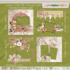 FREE Cottage Roses by Digital Gator Designs - Created By The PDW Unwrapped Team
