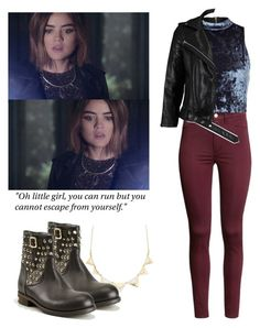 """Aria Montgomery 6x20 - pll / pretty little liars"" by shadyannon ❤ liked on Polyvore featuring H&M, River Island, Charlotte Russe, VIPARO and Philipp Plein"