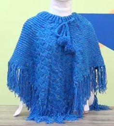 Receita de Tricô: Poncho Fatima em tricô