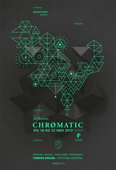 FESTIVAL CHROMATIC 2013 - La campagne graphique by Emilie Thibaut