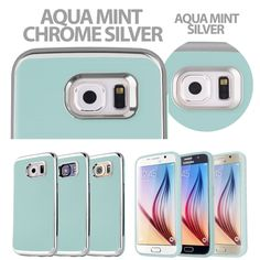 Amazon.com: Galaxy S6 Case [Super Slim Fit] Motomo INO Line Infinity Curved Metal Bumper TPU Mint color Case for Samsung Galaxy S6 (AQUA MINT CHROME SILVER): Cell Phones & Accessories