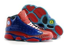 on sale 926bf 6a0f0 Authentic Cheap Air Jordan 13 Amazing 2016 Authentic Cheap Air Jordan 13  Spiderman Blue Red Snakeskin
